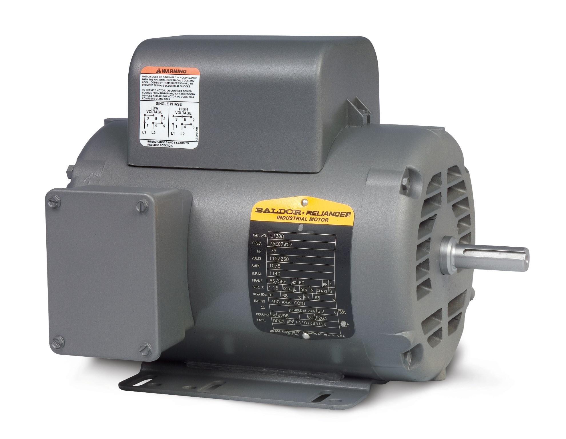 Baldor L1410t Capacitor Wiring Diagram Schematics Motor Single Phase Catalog Reinvent Your
