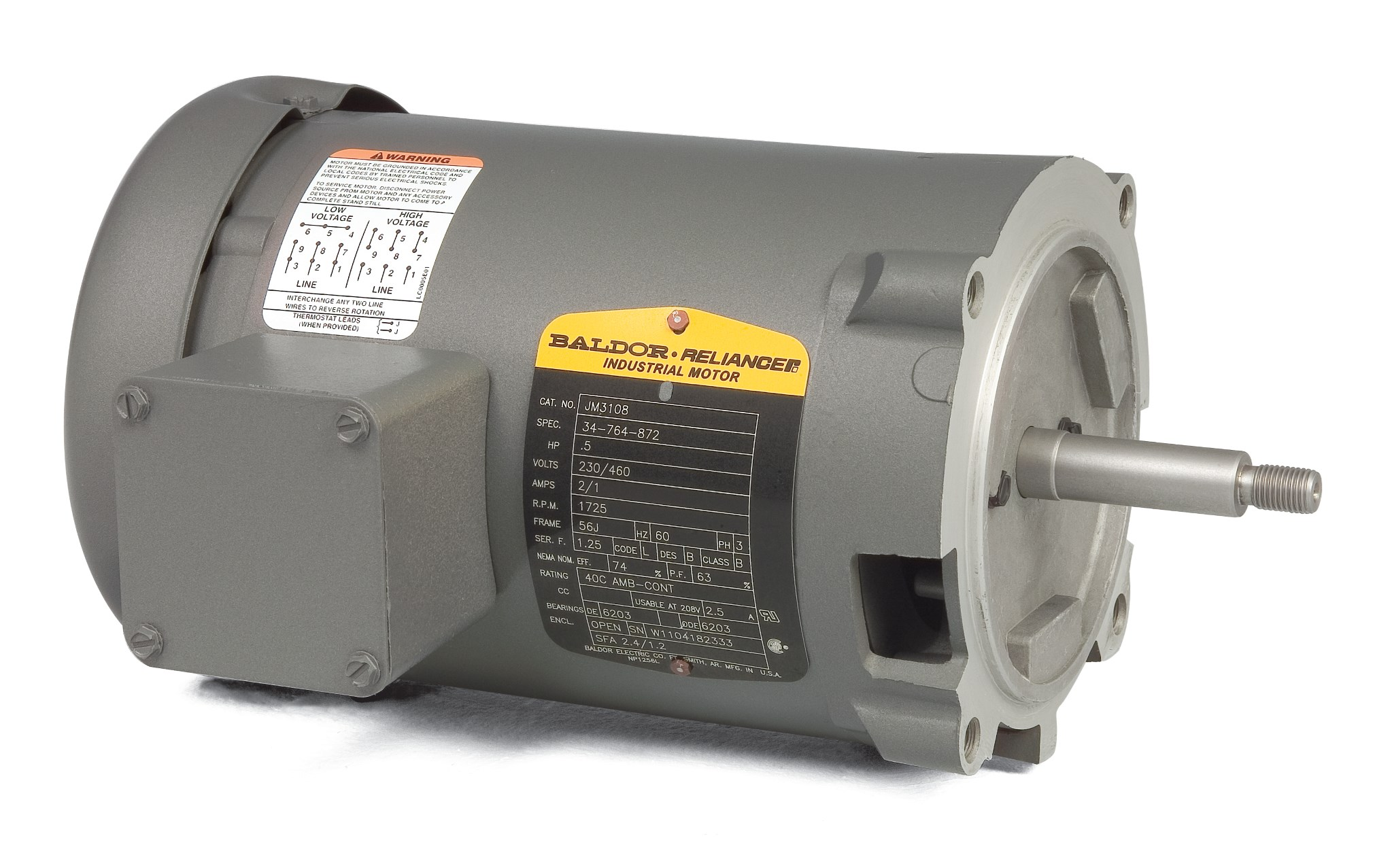 Baldor Electric Motor Wiring Diagrams 10 0 Amb Cont Detailed Jm3154 Product Catalog Com