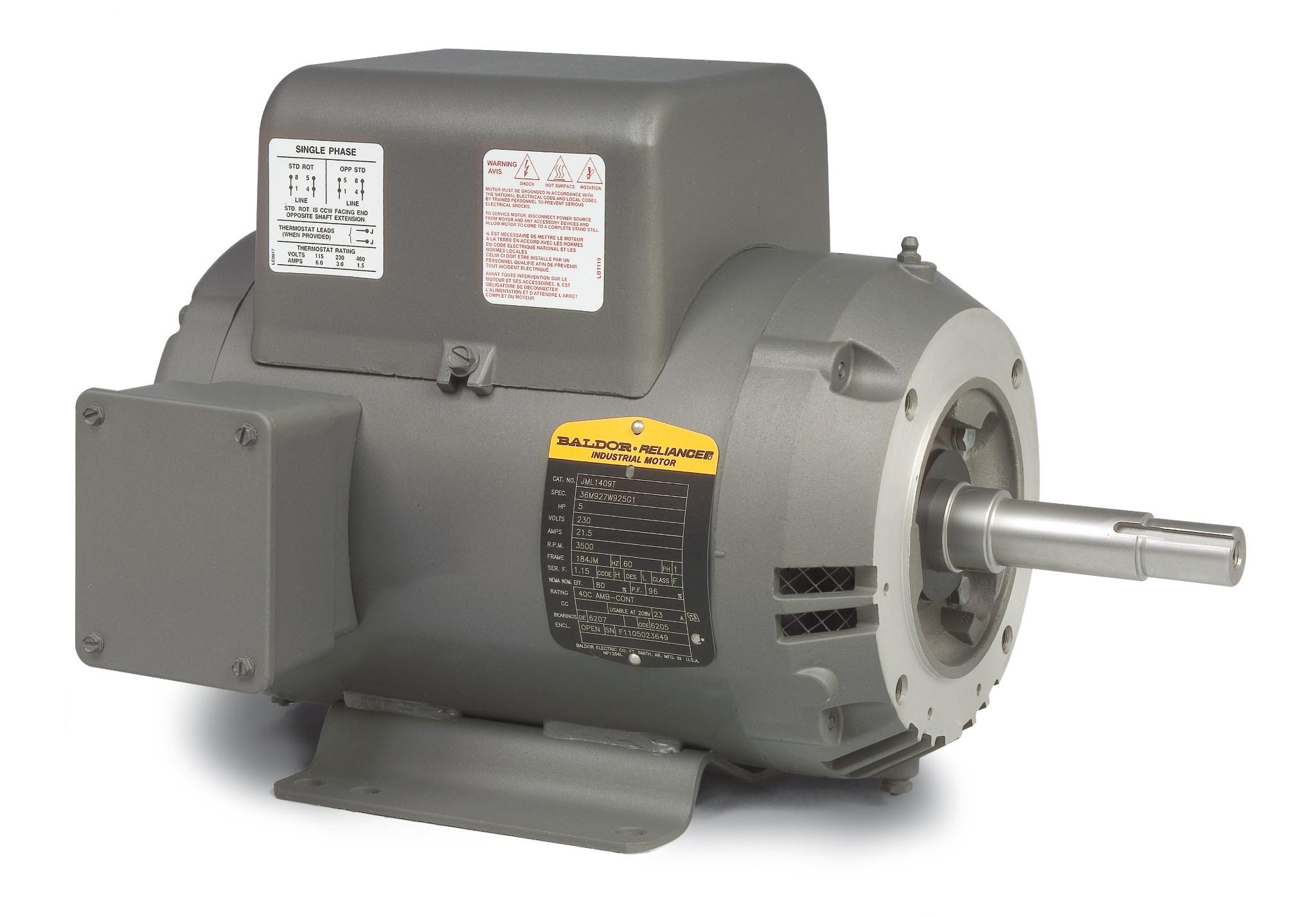 184t baldor electric motor wiring diagrams ao smith for Ao smith electric motors