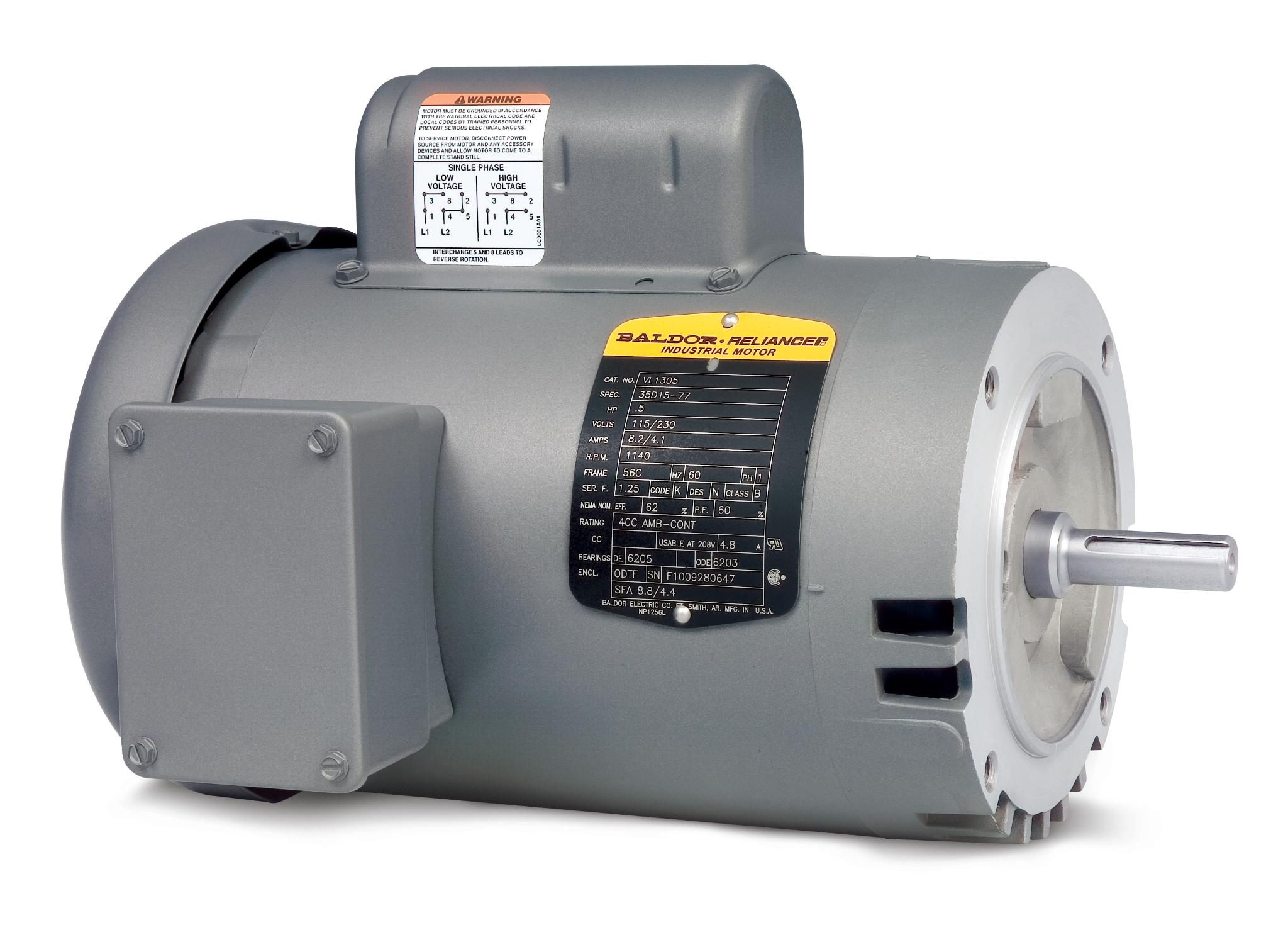 Baldor CL5023-I Ac Motor 56c 1ph 1hp 1725rpm 115//230v-ac