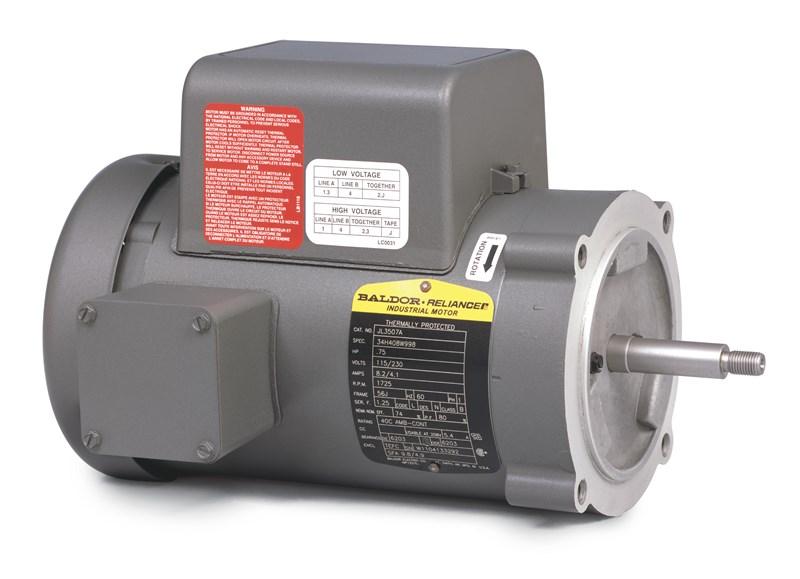 Jl3514a pump motor baldor 1 5hp 1725rpm 1ph 60hz 56j for 2 hp motor current