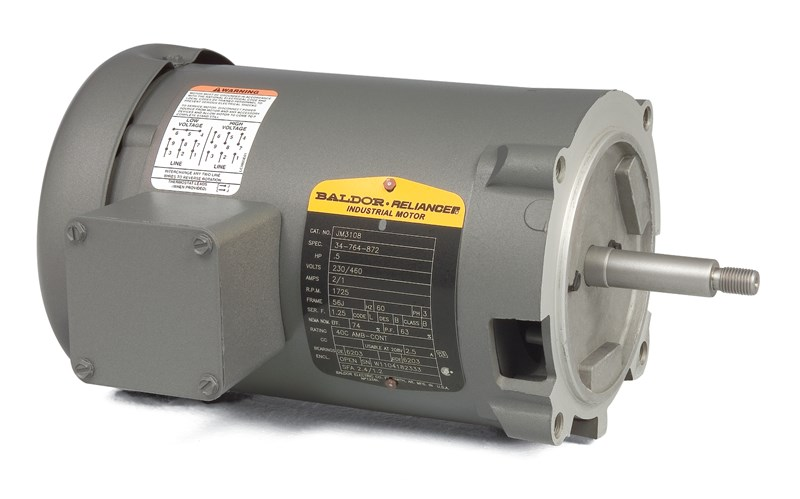 Jm3154 Pump Motor Baldor 1 5hp 1725rpm 3ph 60hz 56j 3520m Open F1 Electric Motors Three Phase Jet