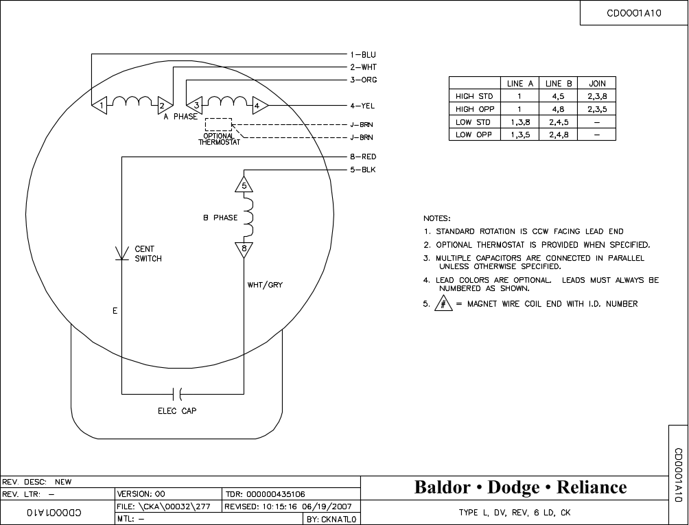 Baldor Reliance Motor Wiring Diagram