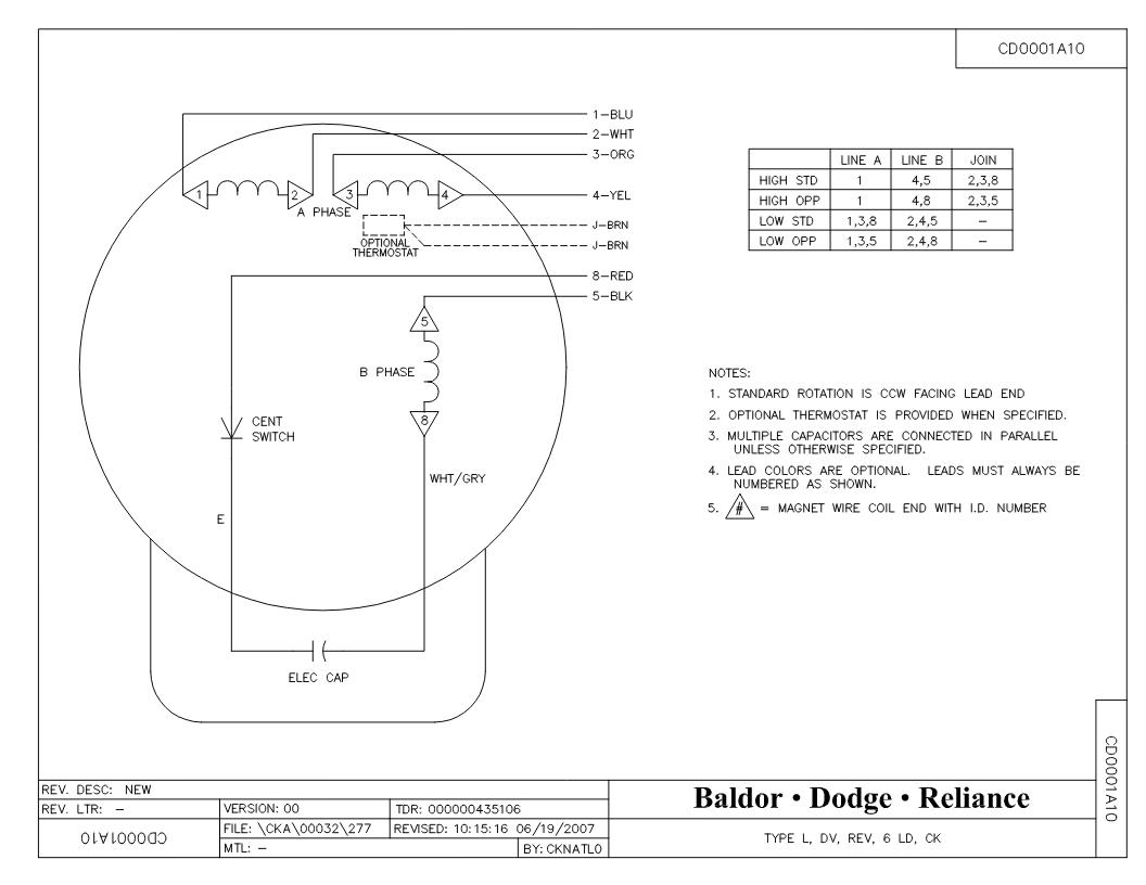 Baldor Reliance Motor Wiring Diagram from www.baldor.com