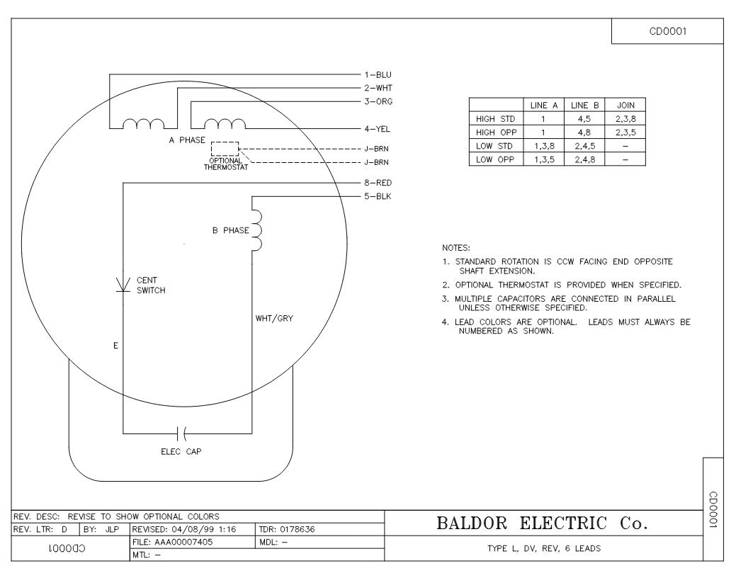 Baldor L1408t Capacitor Wiring Diagram Wiring Diagram