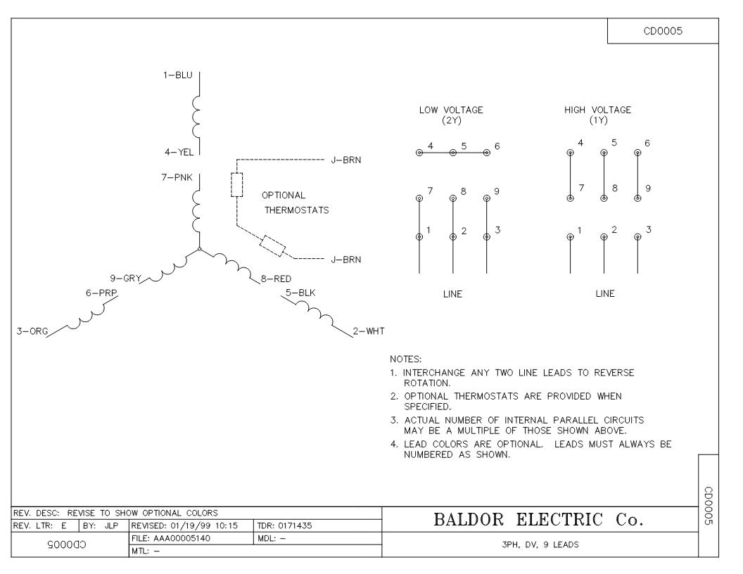 Vem Motor Wiring Diagram : Baldor lead motor wiring diagram somurich