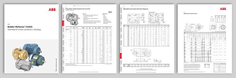Baldor-Reliance CA501 Standard motor product catalog