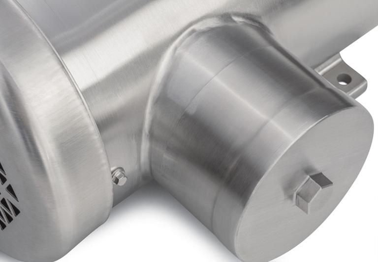不锈钢食品安全马达的曲线和轮廓